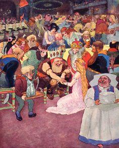 "The Elf Mound. From ""Andersen's Fairy Tales"" illustrated by Artuš Scheiner (1934)"