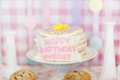 Pancake stack cake.  Pancakes and Pajama party