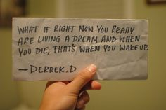 wake up before you die