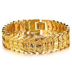 Produce Jewelry Gift Flower Modelling K Gold Plated Men's Bracelet KS