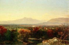 John Frederick Kensett (American [Luminism, Hudson River School, Marine, Landscape] October Day in the White Mountains, Cleveland Museum of Art. The Athenaeum Mountain Art, Mountain Landscape, Saco River, Hudson River School, Cleveland Museum Of Art, White Mountains, Mountain Paintings, Landscape Paintings, Landscapes