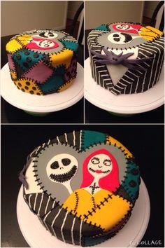 Nightmare Before Christmas birthday cake Jack Skellington Sally fondant & buttercream