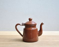 Small Vintage Enamel Teapot by LittleDogVintage on Etsy, $8.00