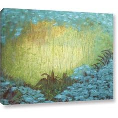 ArtWall Herb Dickinson Morning Light II Gallery-wrapped Canvas, Size: 24 x 32, Blue