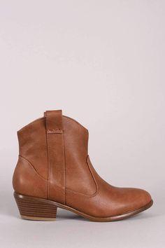 Wild Diva Lounge Vegan Leather Western Booties