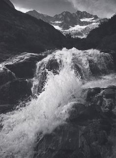 Waterfall, Northern Cascades, Washington, 1960  A. Adams Peabody Essex Museum