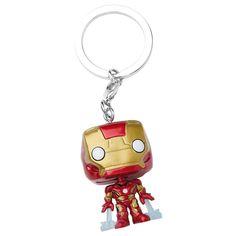 Statuetta decorativa con portachiavi #IronMan di Avengers Age Of Ultron del brand Funko collezione Pop!. Altezza: 4 cm circa.