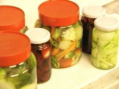 pepinos en vinagre Sin Gluten, Preserves, Cooking Tips, Cucumber, Mason Jars, Food And Drink, Diet, Canning, Vegetables
