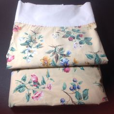 Vintage bed sheets Twin flat and fitted sheets by MyOldeThings