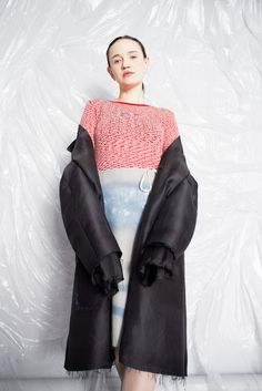 Ideology coat, Puulavesi knit and Graffiti skirt, photo by Sofia Okkonen http://www.elinalaitinen.fi/