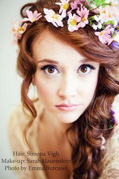 bridal hairstyle, senior portrait inpiration girl  #wedding #hair #bride