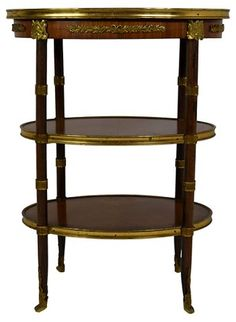 19th-C French Oval Table w/ Brass Mounts - Aix-en-Provence - Week 22 - Sales Events | One Kings Lane