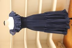 Gucci - navy silk