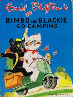 Bimbo & Blackie by Enid Blyton, illustrated by Pierre Probst. His same cats are in all of his Caroline and her Friends books. 1950's