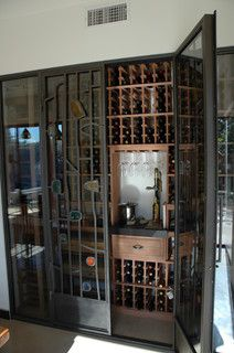 Vintage Cellars | Custom Wine Cellar Design - Huntington Beach, CA - No space is to small to build an ecletic wine cellar. Even next to the breakfast nook in your beach house.  http://www.vintagecellars.com/wine-cellar-design/
