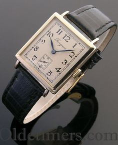 1920s 18ct gold square vintage Longines watch (3844)