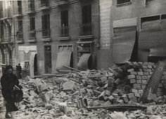 Spain - 1936. - GC - Calle Altamirano. Bombardeo.