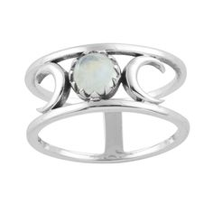 Image of Sterling Silver Mars & Moons Ring