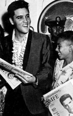 Elvis Hawaii press conference in march 1961.