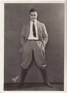 GEORGE WALSH Handsome ORIGINAL Vintage 1920s ROMAN FREULICH Stamp PORTRAIT Photo