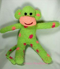 sock monkey $22