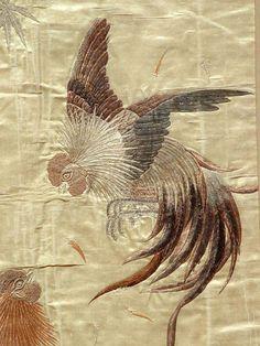 19th Century Japanese Silk Embroidery.