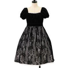 ♡ Moi-meme-Moitie ♡ Velour lace dress http://www.wunderwelt.jp/products/detail8103.html ☆ ·.. · ° ☆ How to buy ☆ ·.. · ° ☆ http://www.wunderwelt.jp/user_data/shoppingguide-eng ☆ ·.. · ☆ Japanese Vintage Lolita clothing shop Wunderwelt ☆ ·.. · ☆