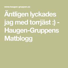 Äntligen lyckades jag med torrjäst :) - Haugen-Gruppens Matblogg
