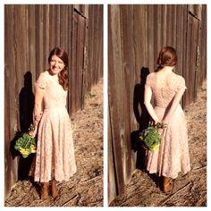 Vintage 1950s All Lace Dress