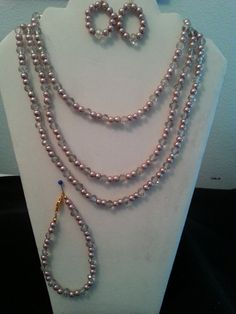 Beige Pearls Three-piece Set by BJDevine on Etsy