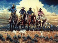 Cowboys And Horses | Kenneth Wyatt Galleries: Colorado Cowboys