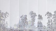 MANUFACTURE LEROY. CHASSE Environ 67 lés de papier panoramique dont