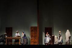 """The set of """"Marriage of Figaro"""" at Seattle Opera allows the audience to see action in multiple rooms at the same time, thanks to sliding panels. (Photo by Tuffer) (Tuffer)"""
