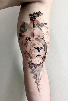 Cisco Itamura lion tattoo