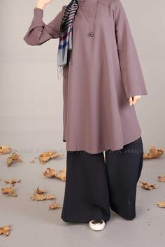 ALLDAY Turkish fashion, Hijab style wide leg pants and tunic, nice colors for fa. ALLDAY Turkish fashion, Hijab style wide leg pants and tunic, nice colors for fa… Abaya Fashion, Modest Fashion, Fashion Outfits, Fall Fashion, Trendy Fashion, Moslem Fashion, Modele Hijab, Mode Abaya, Fifties Fashion