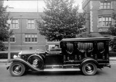 sutured-infection: 1930 Cadillac Hearse (Sweeny's Funeral Home)