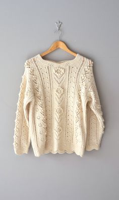 cream knit sweater / cream sweater / Dashwood