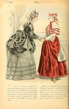 1869 - La mode pendant quarante ans de 1830 à 1870 by Louis Colas