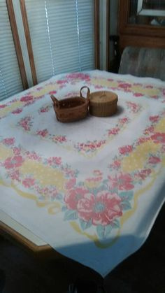 Check out this item in my Etsy shop https://www.etsy.com/listing/525098963/vintage-table-cover-from-the-50s