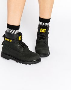 Cat Footwear Colorado Black Leather Ankle Boots