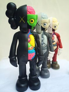 dafb2e741749e9 16 Inch Original fake KAWS Dissected Companion action Figure Kaws Toy Kaws  Original Fake model toy Dissection with box