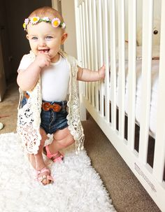 Boho baby fashionista Yasmine Gene Provencio this is so gonna be your… So Cute Baby, Baby Love, Cute Kids, Cute Babies, Baby Outfits, Lila Outfits, Baby Dresses, Long Dresses, Toddler Outfits