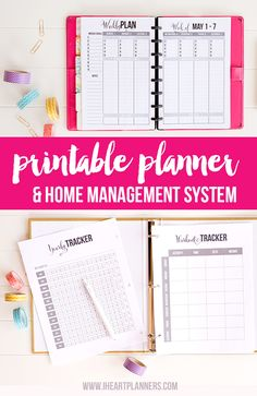 The Ultimate Printable Planner. Stay Organized This Year. Full and Half Size Printables Included