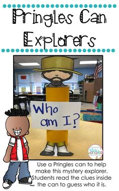 Social Studies doesn't have to be boring! Create this Mystery Explorer using a Pringles can!