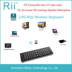 2.4G Rii Mini i13 MIC Speaker Wireless Keyboard with Air Fly Mouse for PC HTPC Smart Android TV Box SKYPE Gaming Keyboards