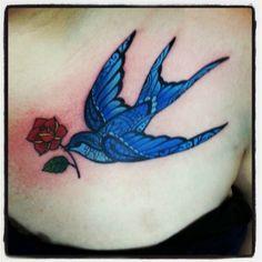 I put a bird on it #tattoo #twobirdstattoo #putabirdonit #swallowtattoo #birdtattoo