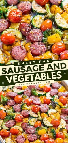 You are going to love this dinner idea! Made with your choice of sausage and vegetables you have on hand, this easy main dish is ready in under an hour. Plus, this sheet pan recipe is great for meal prep! Vegetarian Recipes Dinner, Delicious Dinner Recipes, Yummy Recipes, Thanksgiving Main Dishes, Best Comfort Food, Comfort Foods, Quick Easy Meals, Easy Dinners, Pinterest Recipes