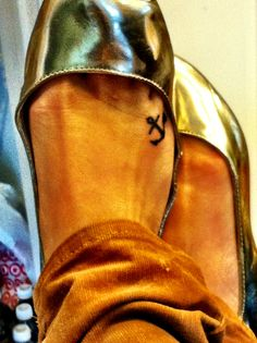 Hebrews 6:19. Anchor tattoo on foot!