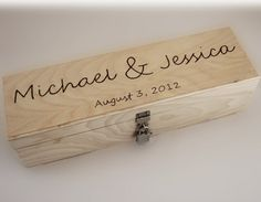 Love Letter Ceremony Wedding Wine Box  ...great for wedding time capsule
