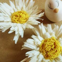 fabric flower tutorial Sweet Daisies Pattern How to make by Soles, $5.00